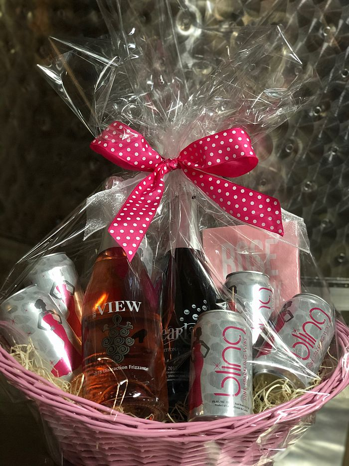Tickled Pink Bubbly Gift Basket
